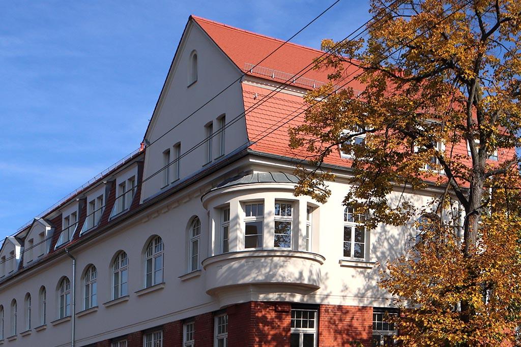 LEWO Referenzprojekt LEDERWERK Böhlitz-Ehrenberg Fassadenansicht