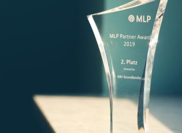 """MLP-AWARD IN SILBER FÜR EBV GRUNDBESITZ GMBH – Auszeichnung erstmalig in der Kategorie """"Immobilie"""""""